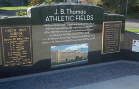 J.B Thomas Memorial Plaque